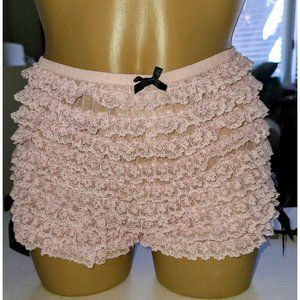 VINTAGE FREDERICKS OF HOLLYWOOD USA Pink Lace XL